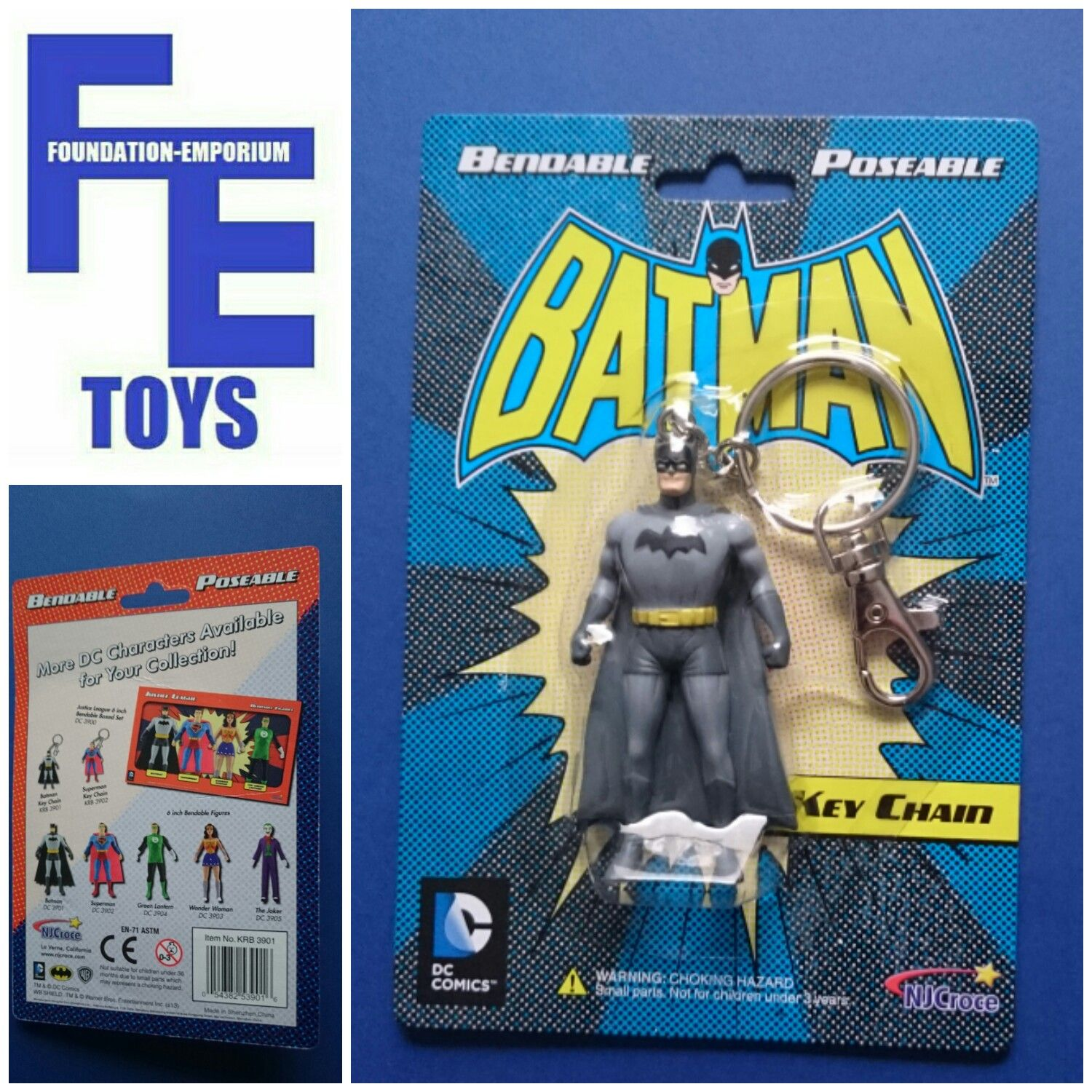 Batman Bendable Keyring with Key Chain - DC Comics KRB 3901 Available now in our Foundation-Emporium Toys eBay Shop https://goo.gl/EtZ3Wm & Amazon Shop http://amzn.to/2iTAtHb