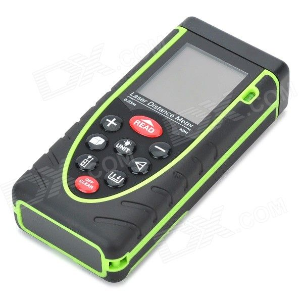 "RZ40 1.9"" LCD Digital Laser Distance Meter / Rangefinder - Black + Green (3 x AAA) - Free Shipping - DealExtreme"
