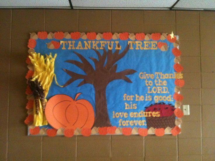 Preschool Bulletin Boards Thanksgiving Fall Thankful Tree Board
