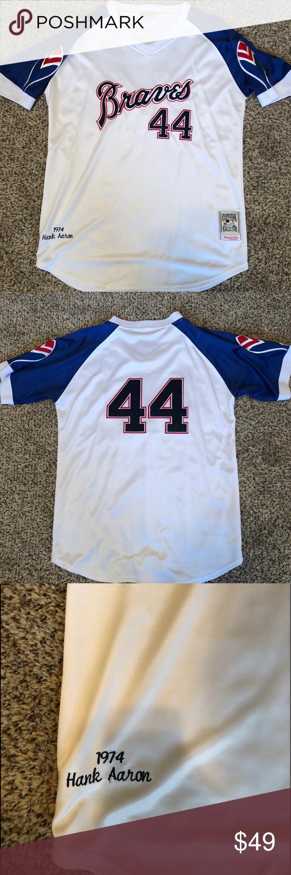 Vintage Atlanta Braves Hank Aaron Jersey Throwback Hank Aaron Jersey Size 54 Never Been Worn Always On Display Perfec Atlanta Braves Braves Clothes Design