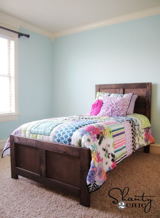 Best Diy Bed Pottery Barn Inspired Diy Bed Wood Twin Bed 640 x 480