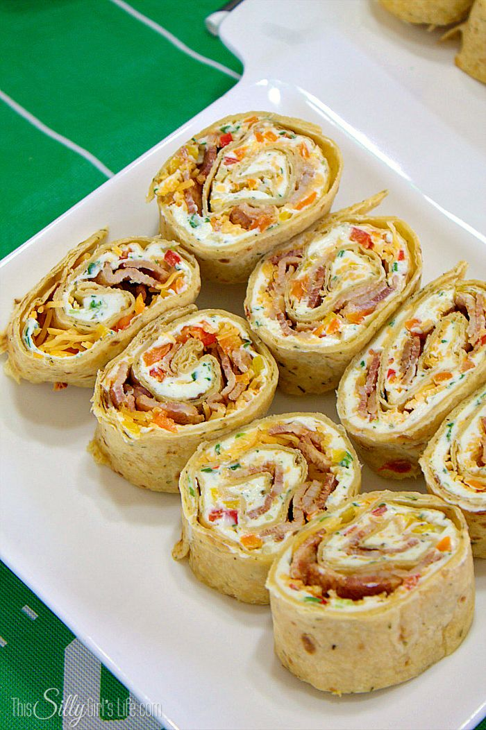 Check out Cheddar Bacon Ranch Pinwheels. It's so easy to ...