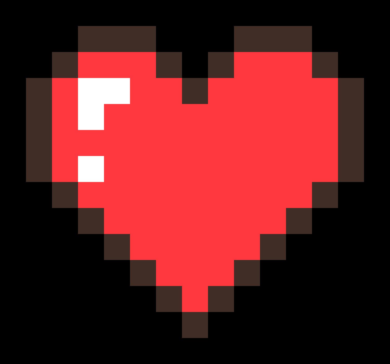 Pixel Heart Png In 2021 Pixel Heart Minecraft Heart