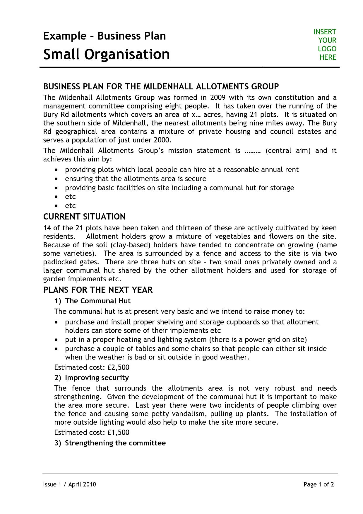 Template For Writing A Music Business Plan Business Proposal Template Business Plan Example Small Business Plan Template
