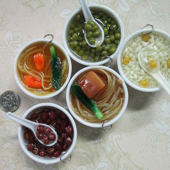 miniature sushi bento noodle soup decoden kawaii by bunnysundries, $3.00