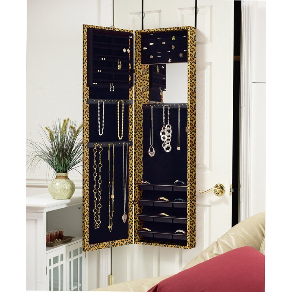 Image result for leopard wall mount hanging jewelry organizer