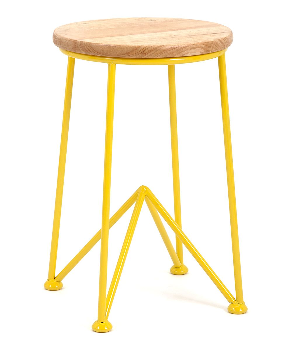 Yellow iron u wood side table woodstuff pinterest wood side