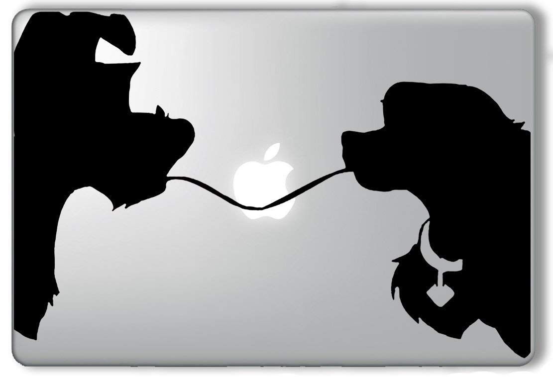 Amazon Com Lady And The Tramp Spaghetti Silhouette Disney Apple Silhouette Lady And The Tramp Lady