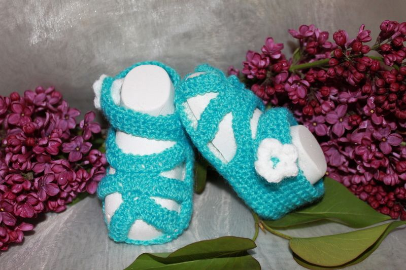 Sandalen für Babys von Die Sandfrau auf DaWanda.com