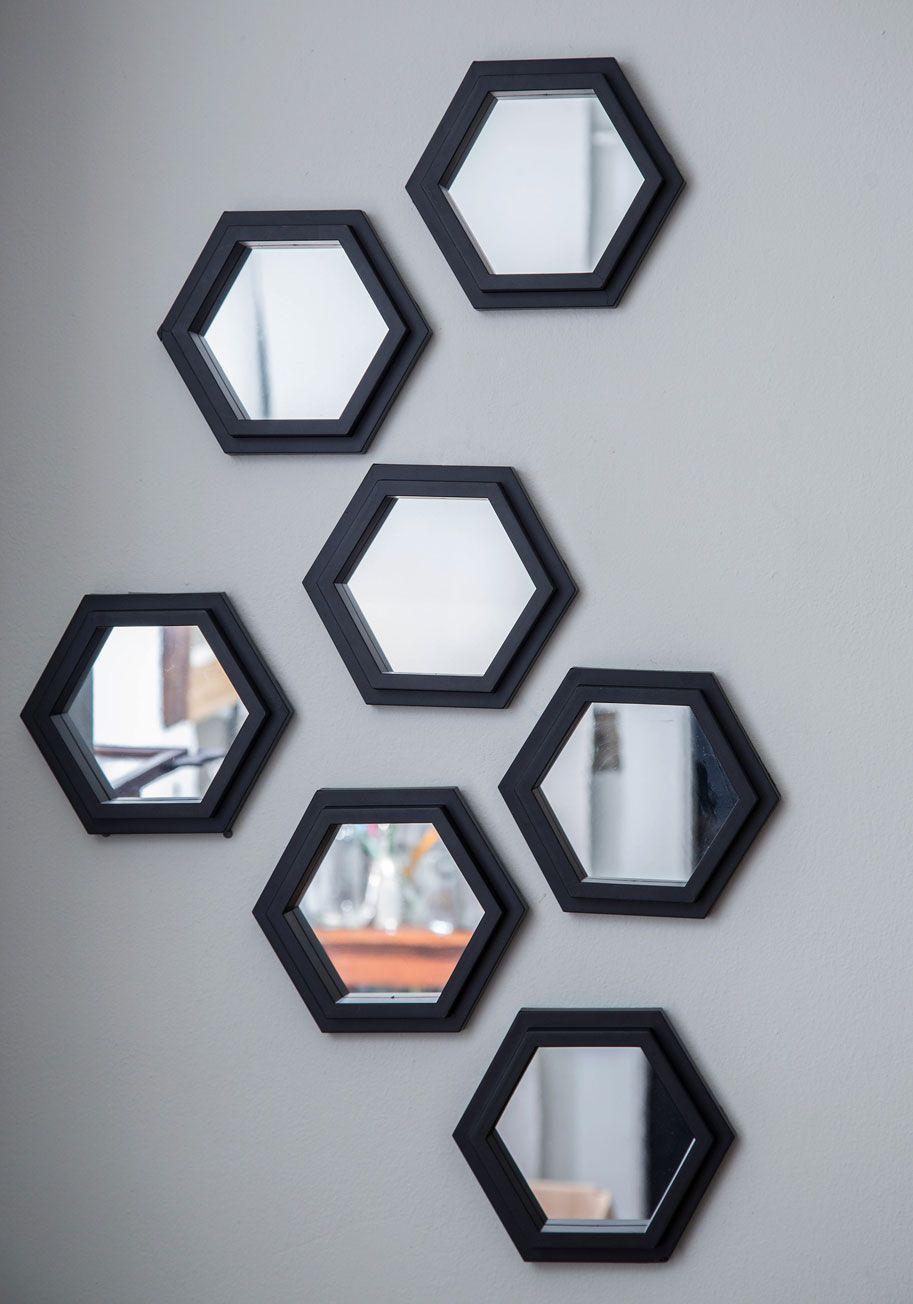Wall decor mirrors set