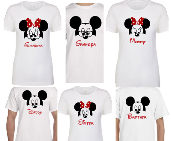 e3c1b18b Disney Matching Shirt Set | Disney Family Shirts | Mom Dad Brother Sister  Grandma | Christmas Shirt |Family Matching Mouse Set