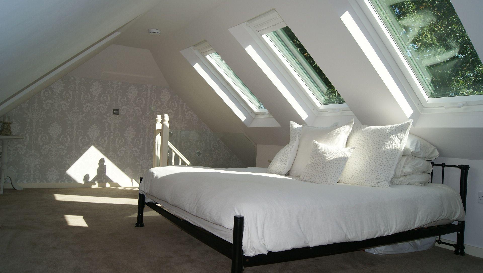 Loft bedroom windows  Velux Window Conversion  Living rooms  Pinterest  Window Lofts
