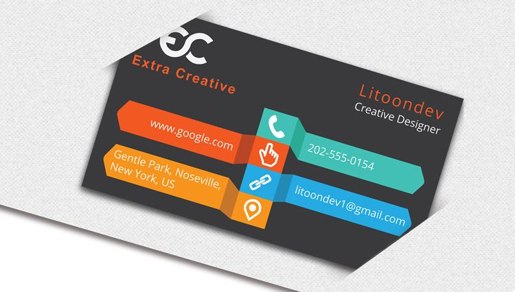 Previews of the Business Card Design on Adobe Illustrator ...