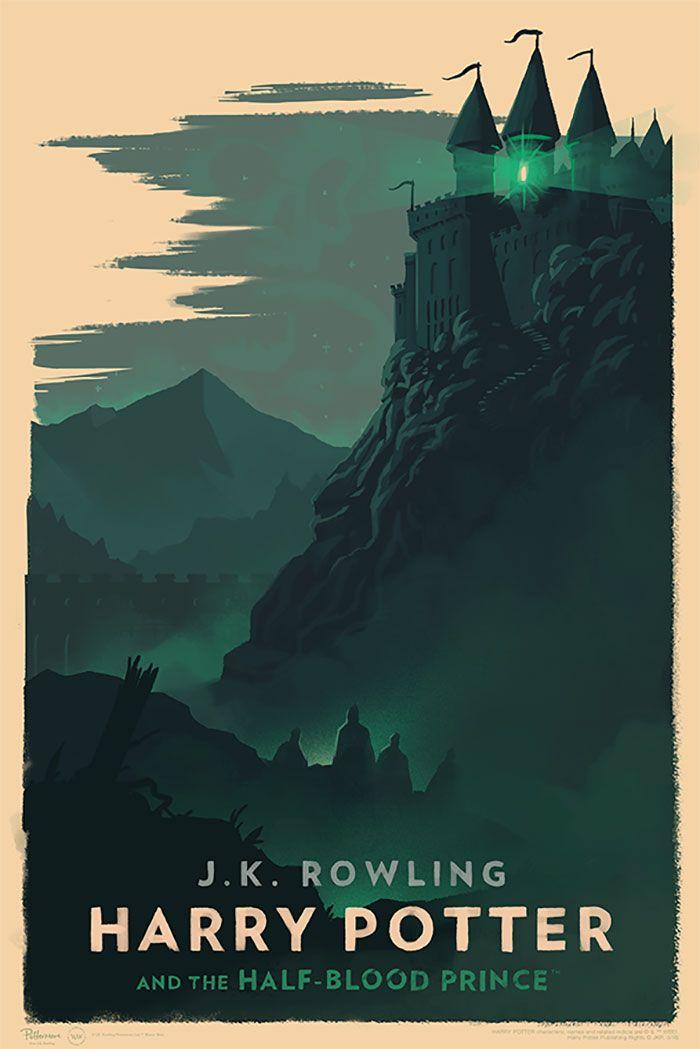 Des Couvertures De Livres De Harry Potter Style Vintage Par