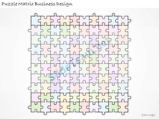Business Ppt Diagram Puzzle Matrix Business Design Powerpoint