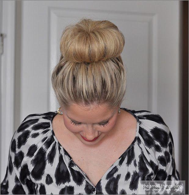 The Small Things Blog: The High Bun For Medium Length Hair