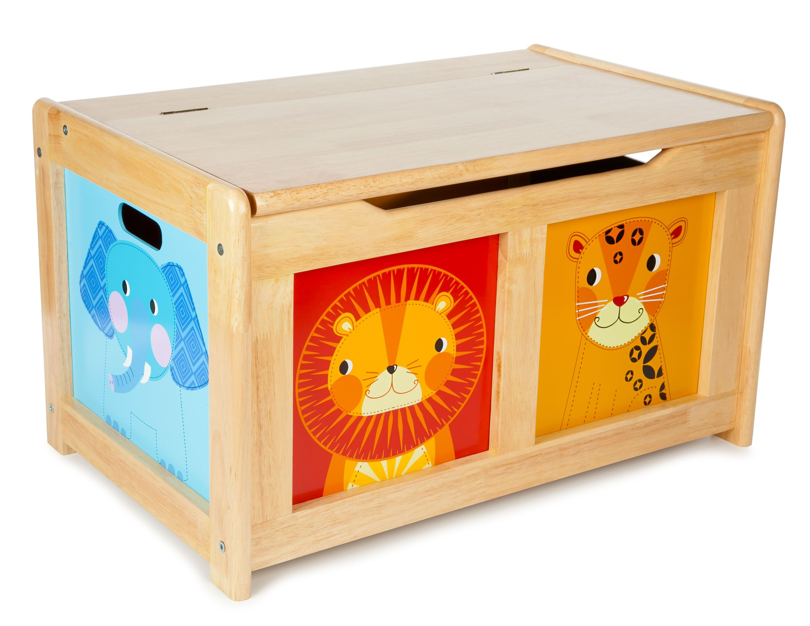 Tidlo Jungle Wooden Toy Box Toy Chest Wooden Toy Boxes Wooden Toy Chest