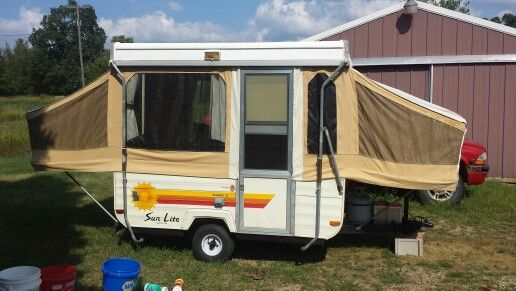 1983 Sun Lite Pop Up Camper With Images Pop Up Camper