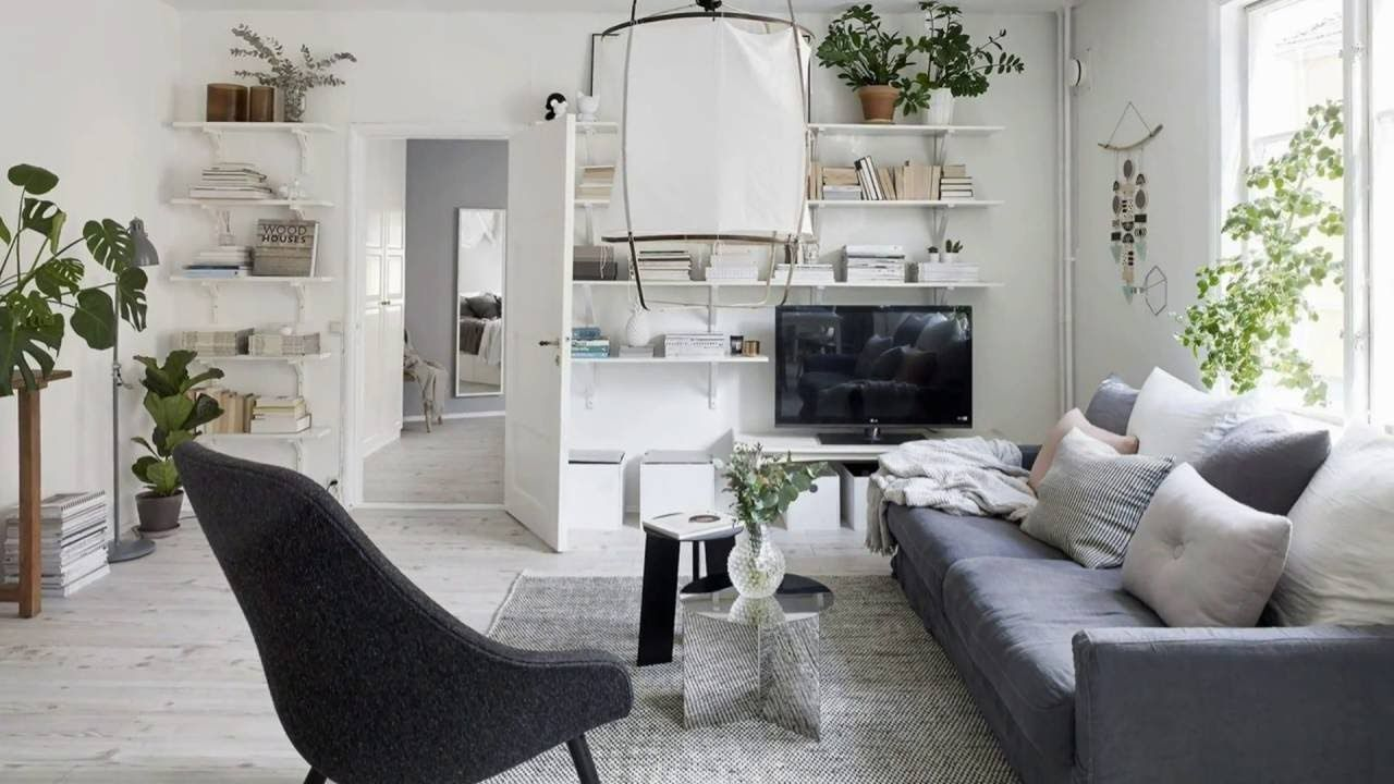 Beautiful Gray and White Apartment in Göteborg, Sweden