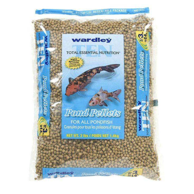 Wardley Nutrition Pondfish Food Pellets 3 Pound Bag Wardley Fish Tank Accessories Food Animals