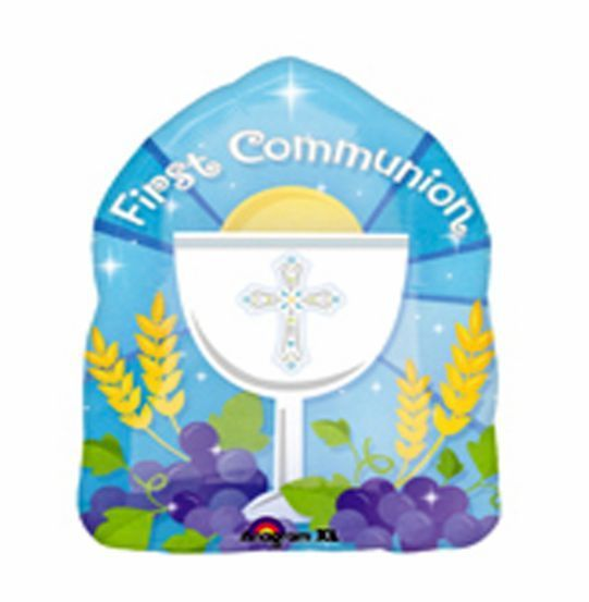 """First Holy Communion Blue 18"""" Helium Party Balloon Communion Party Supplies 8090 picclick.com"""