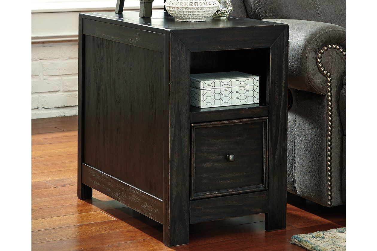 Gavelston Chairside End Table With Usb Ports Outlets End
