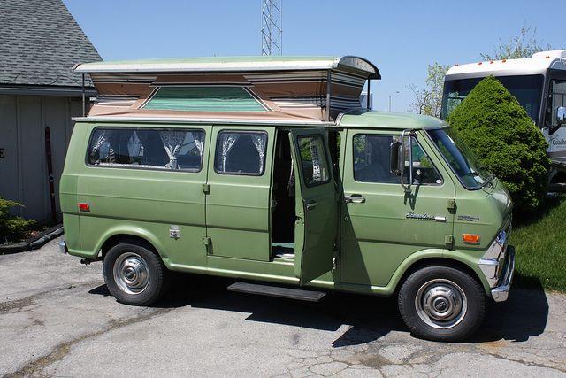 1970 Ford Econoline E 300 Camper Van With Images Ford Van