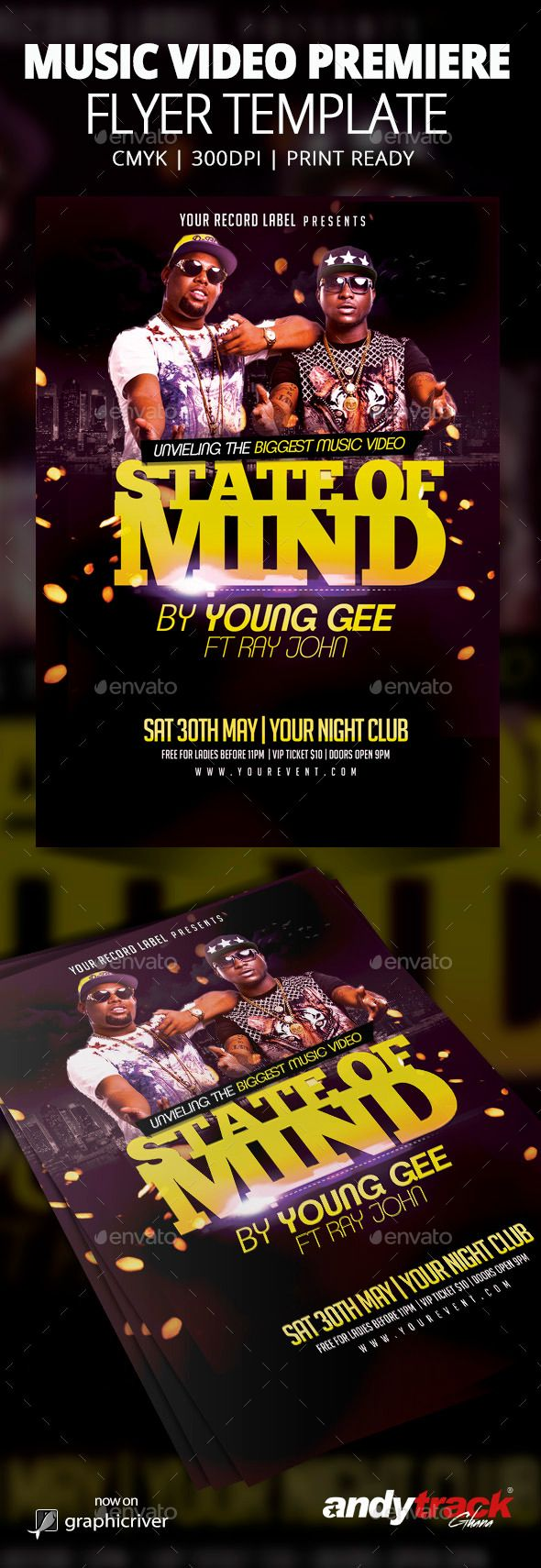 Music Video Premiere Flyer Template Psd Buy And Download Http