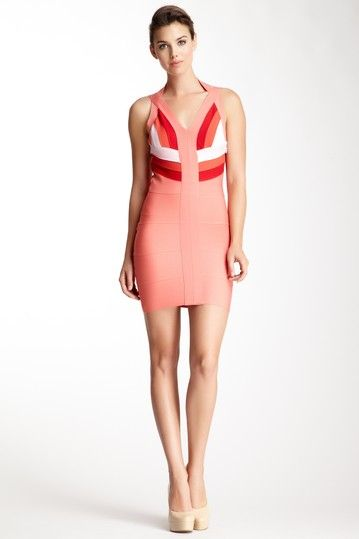 Wow Couture Multicolor Bandage Dress