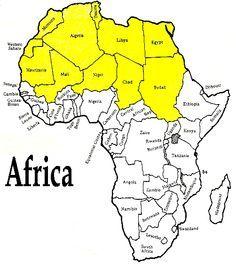 CC1 Sahara Desert | Africa | Africa map, African map, Africa