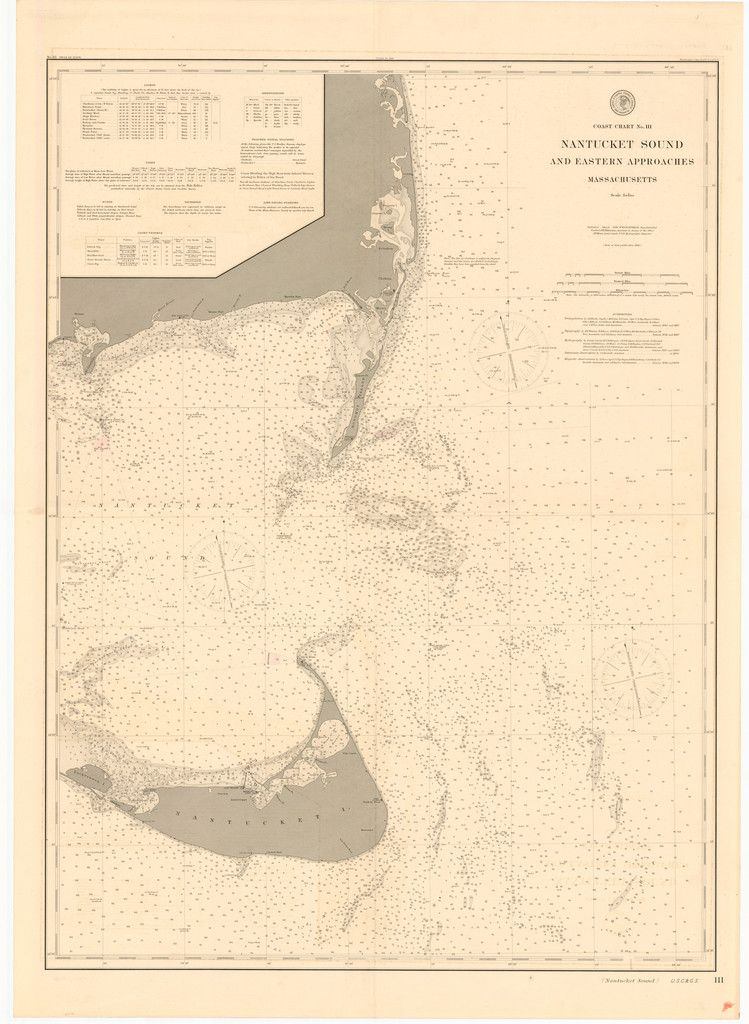 Nantucket Sound And Approaches Historical Map 1896 Nautical Map Nantucket Island Nantucket