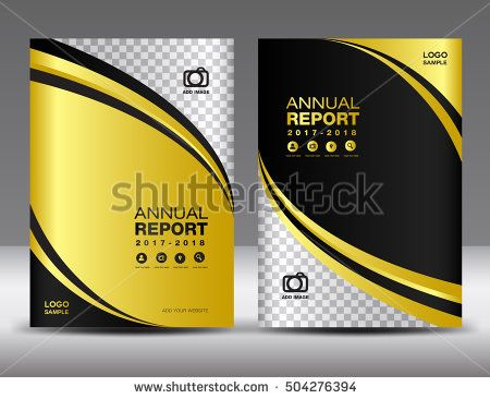 Gold Cover template, cover annual report, cover design business - cover template