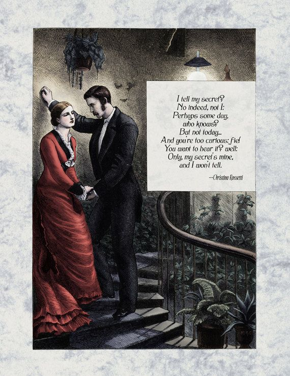 Christina Rossetti  Victorian Poetry Art Print  My by Shakoriel, $9.00