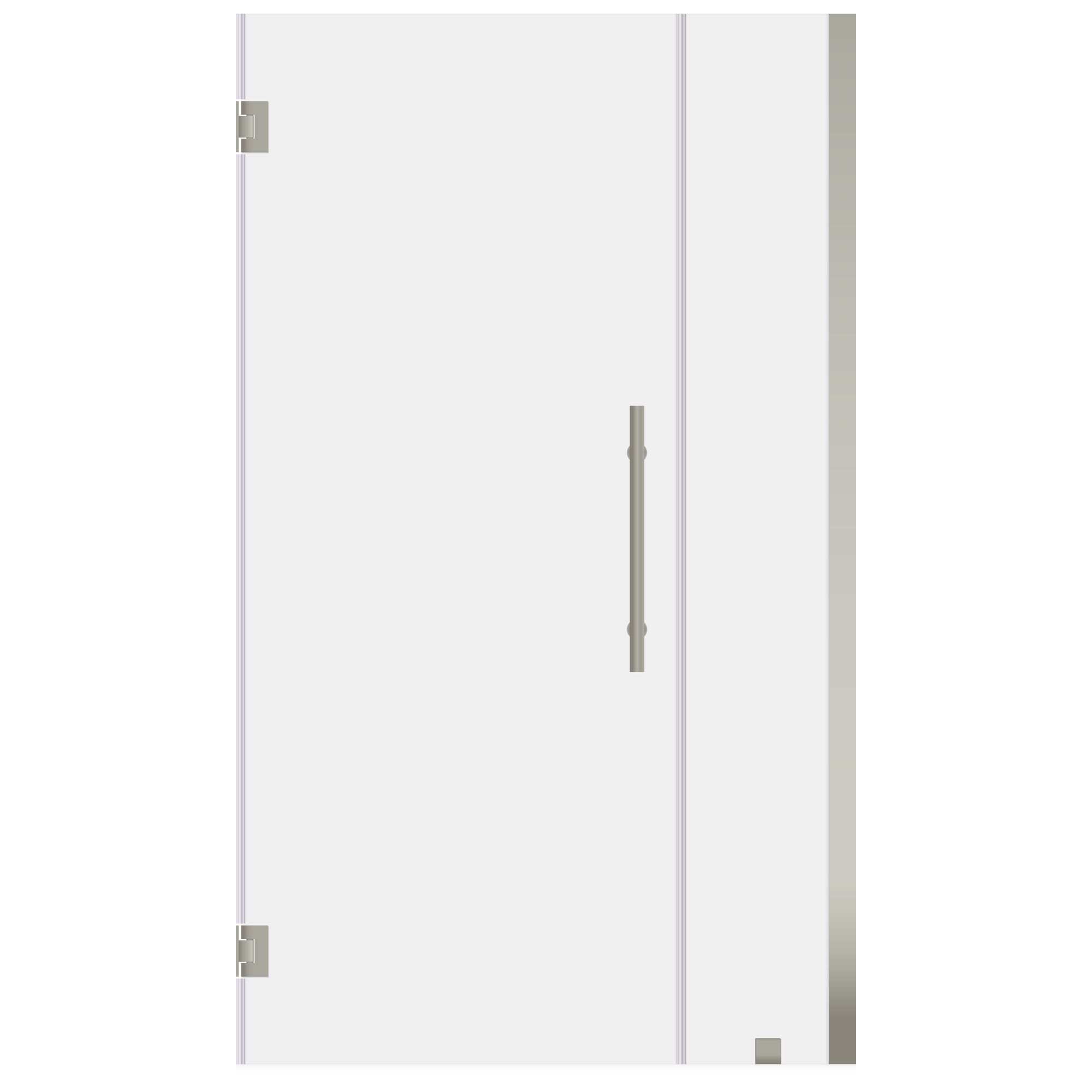 Lesscare Ultra E Brushed Nickel 32 To 33 Inch Wide X 72 Inch High Swing Out Shower Door Frameless Shower Doors Shower Doors Frameless Shower
