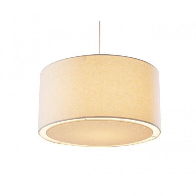Edward cream ceiling pendant light shade a circular drum shaped edward cream ceiling pendant light shade a circular drum shaped ceiling shade in a neutral cream fabric that will match well with many colour schemes aloadofball Gallery