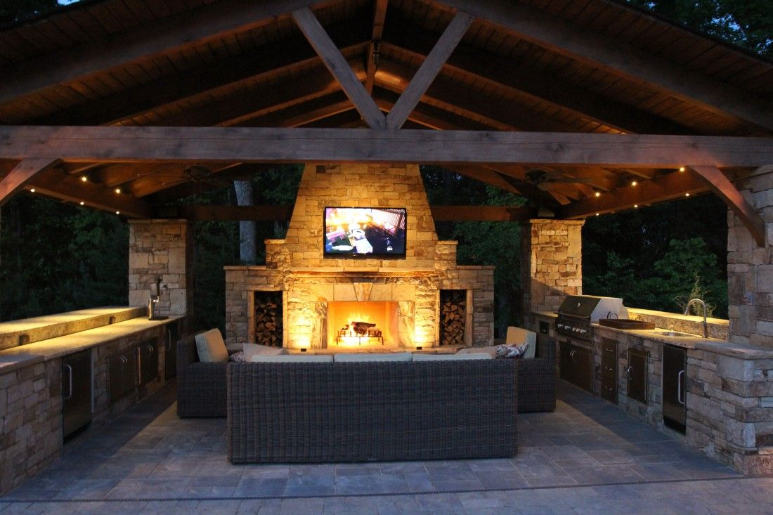 Outdoor Pavilions With Fireplaces Pavilion And Outdoor