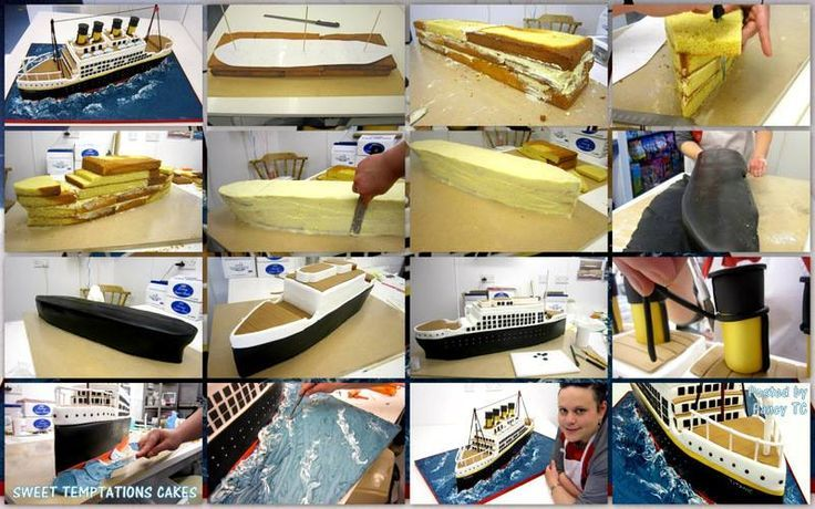 Ship cake - sweet temptations cakes - step by step