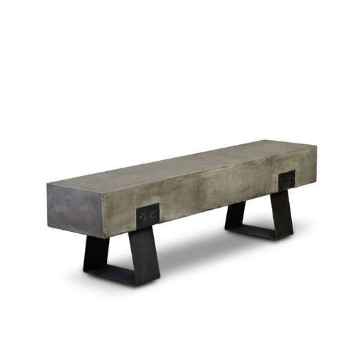 Modern Concrete Benches: Industrial Bench, Concrete Bench