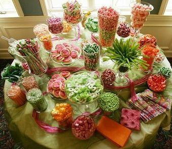 Tropical Colored Candy Buffet Candy Buffet Ideas Pinterest