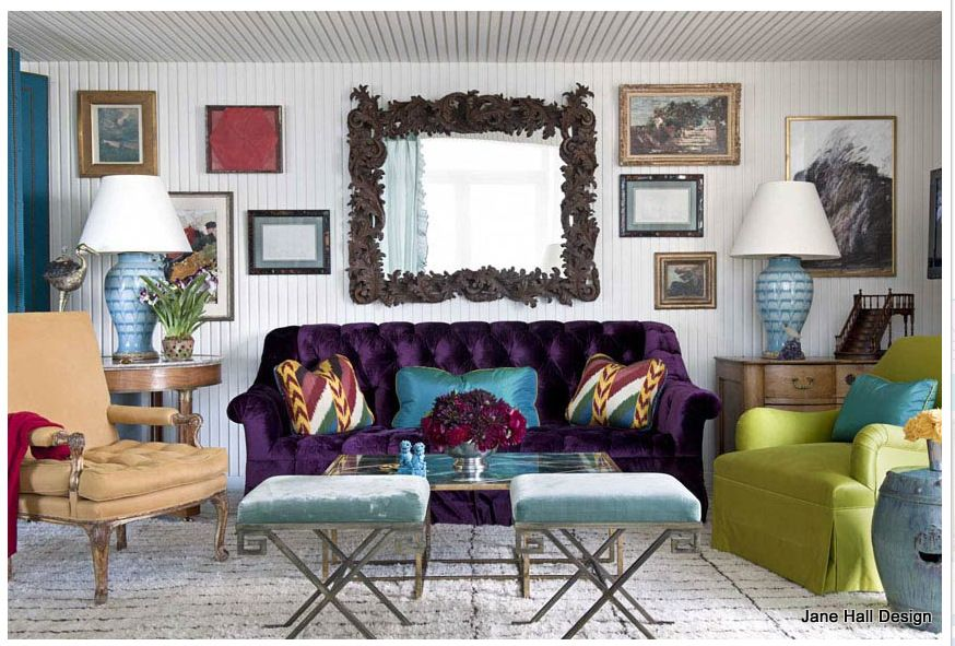 Violet Purple Couch And Tertiary Color Spring Green Modern Eclectic Living Room Eclectic Living Room Design Eclectic Living Room #purple #couch #living #room #ideas