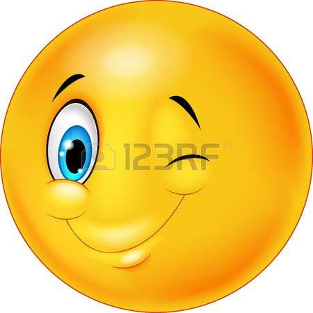 Super emoticone joyeux: Smiley heureux dessin animé émoticône avec  UE73