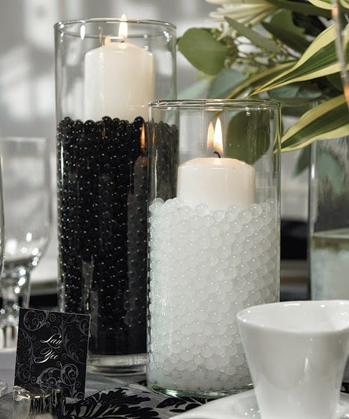 Black And White Wedding Centerpieces Wedding Stuff Ideas Polka