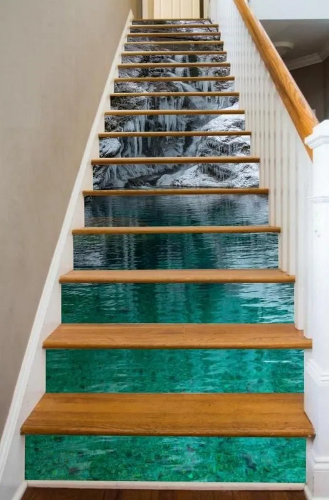39 Eyechachting Diy Stairs Rainbow Gallery Wall Ideas 2 In 2020 Beautiful Stairs Painted Stairs Stair Risers