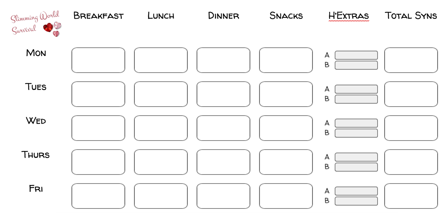 Printable Food Diary Go To Site For Download Link