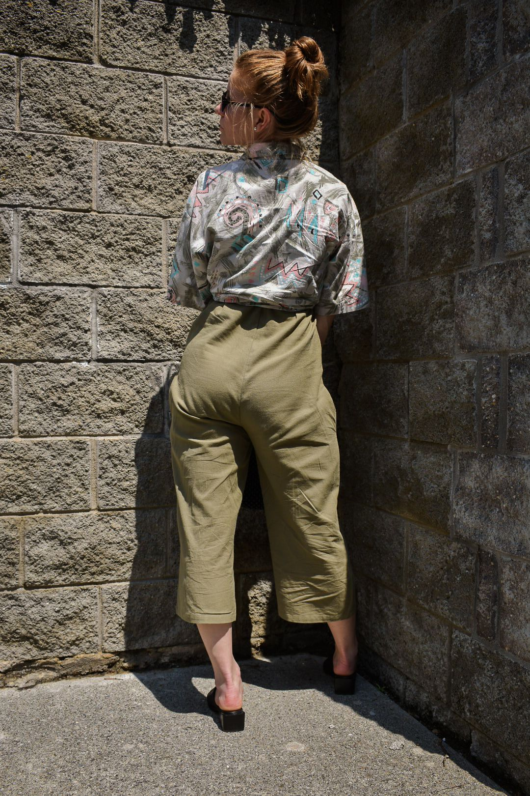 d0ff84564fa9 Wearing Nastygal linen jumpsuit (Sale) Judy Knapp Vintage Dad shirt  (Backward Glances)