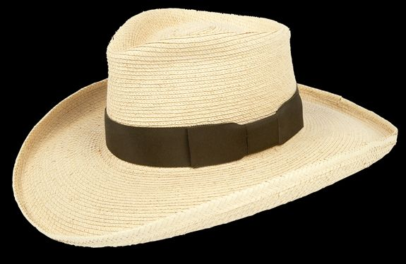 d6cb3624595f4 4 inch brim with pencil roll. Tear drop crown. 1-1 2 inch wide grosgrain  band with bow. Brown band is shown. Alternate trim colors available  black