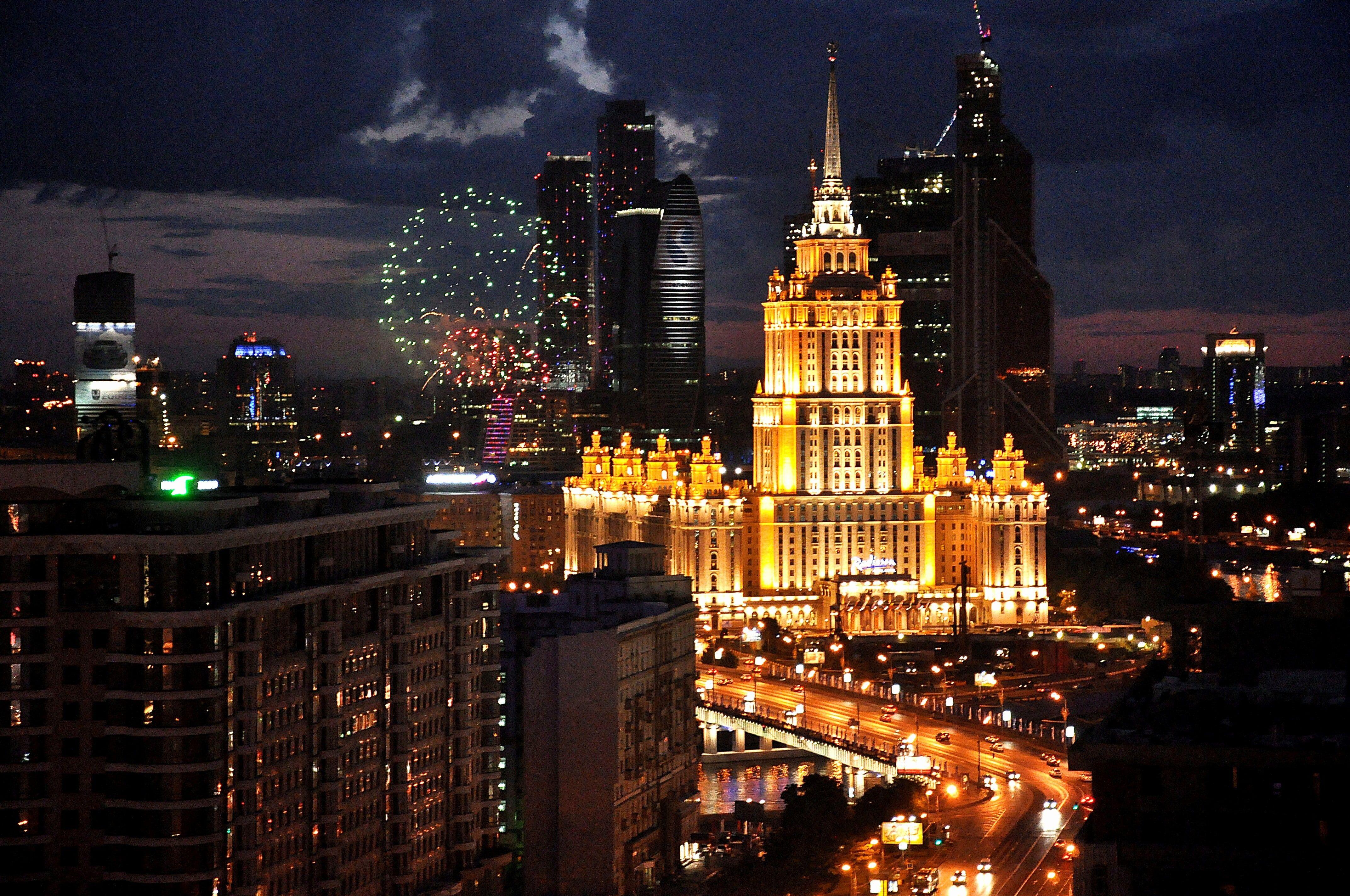 Russia Night In Moscow Moscow Night Light Night 4k Wallpaper Hdwallpaper Desktop Gorod Rossiya Puteshestviya