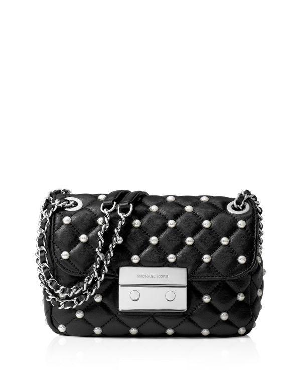 22afe0fcc810 Michael Michael Kors Small Sloan Faux-Pearl Chain Shoulder Bag ...