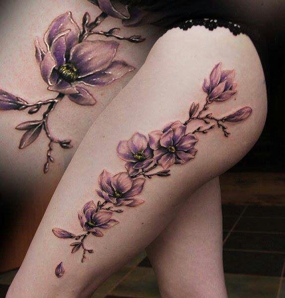Pretty lilac colored tattoo