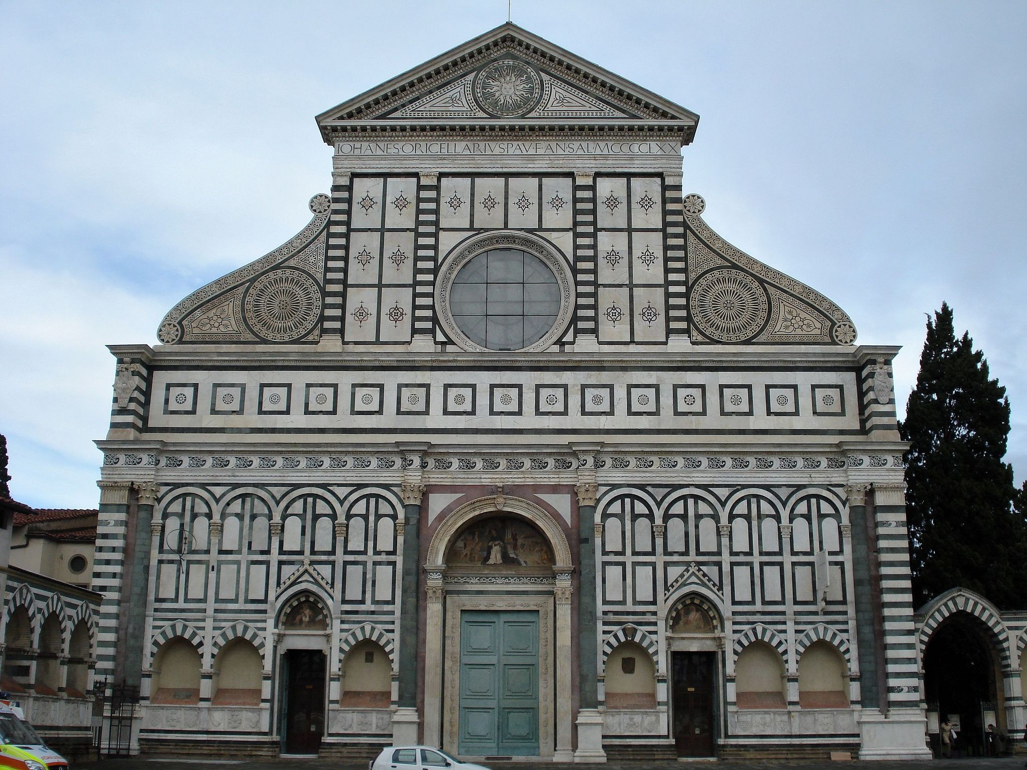 020 Early Renaissance Alberti Facade Of Santa Maria